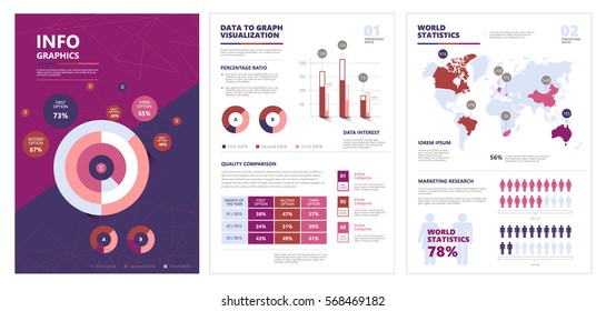 Template for brochure, business, web design  of modern infographic vector elements for web, print, magazine, flyer, brochure, media, marketing and advertisinga. EPS10.
