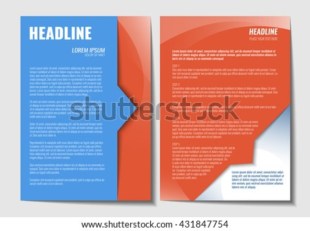 Template Brochure Design Opened Brochure Pages Stock Vector Royalty