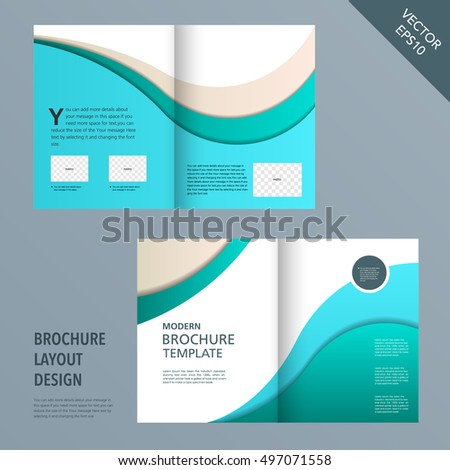 Template Brochure Design Spread Pages Stock Vector Royalty Free