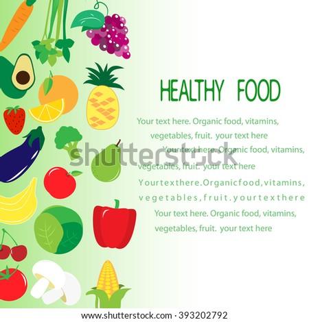 template brochure on healthy food vegetables stock vector royalty