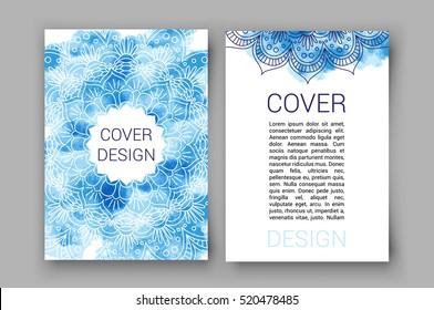 template brochure pages ornament vector illustration. traditional Islamic, Arabic, Indian, cover elements. decorative retro card for print or web design, spa salon, yoga studio