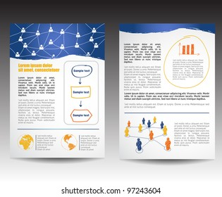 Template for Business Brochure, editable version