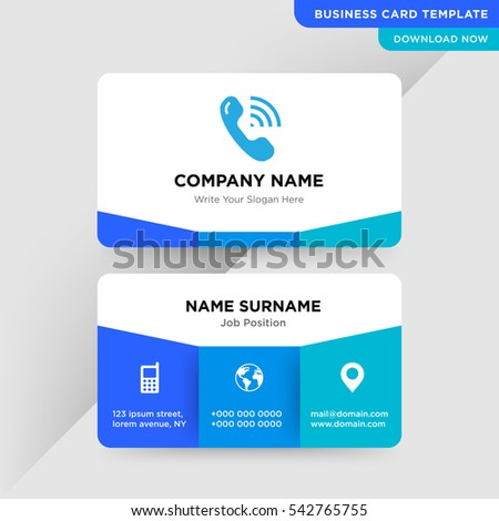 template business card communication calls services stock vector