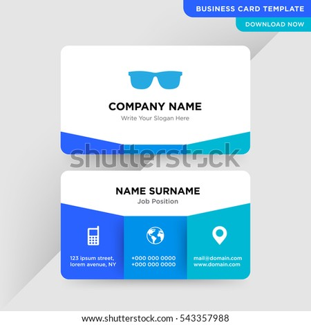 template business card medical optics services のベクター画像素材