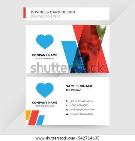Template Business Card Medical Services Company Stock Vector
