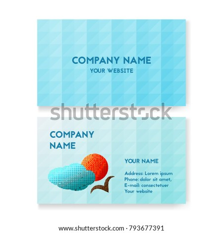 Template Business Card Travel Agency Layout Stock Vector Royalty