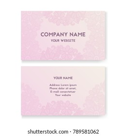 Flower wedding card stock photos businessfinance images template business card for wedding salon layout for print vector illustration pink and reheart Gallery