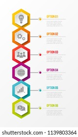 Template of business infographic with definied steps. Vector.