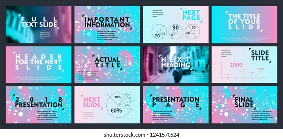 Template for business presentations. Cyano pink abstract elements on a light background. Presentation slide, flyer leaflet, brochure cover, report, marketing and banner