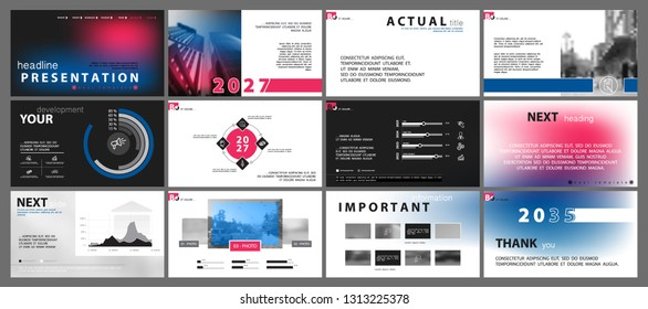 Template for business presentations. Elements of a gradient, red blue white background. Multipurpose slide, Infographics, monitor, cover postcard,report, advertisement, text,brochure, marketing banner