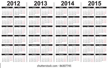 2013 Calendar Template Images Stock Photos Vectors Shutterstock