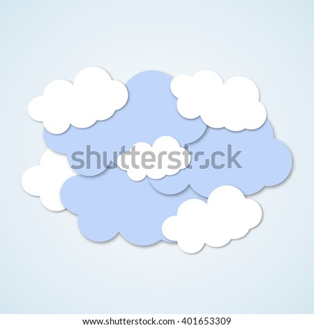 template card clouds eps 10 vector illustration stock vector
