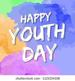 template card of International Youth Day for banner, brochure, flyer, greeting, invitation, cover. 12 August