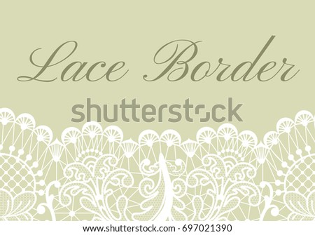template card white lace border on stock vector royalty free