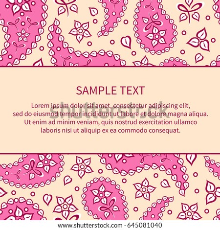 Template Cards Invitations Congratulations Poster Oriental Stock