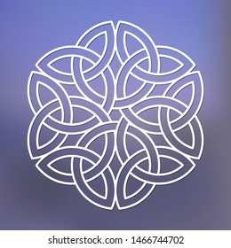 Template  of celtic ornament for laser cutting. Stencil celtic knot. Ethnic ornament for design. Vector celtic logo.