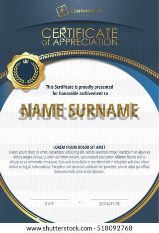 Template Of Certificate Appreciation With Golden Badge 4
