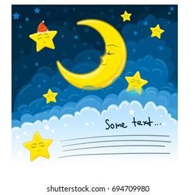 Template for children, Sleeping Moon