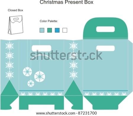 Template Christmas Box Stock Vector Royalty Free 87231700