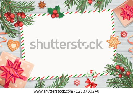 Template Christmas Letters Wishes On Wooden Stock Vector Royalty