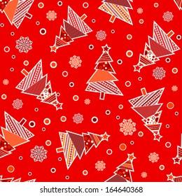 Template Christmas seamless pattern, vector illustration