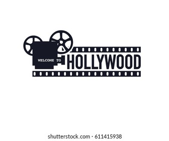 Template cinema poster Vector illustration.