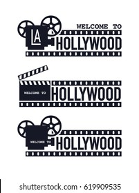Template cinema poster Vector illustration. Vector set