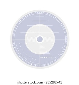 Template for compact disk, abstract lines with elements