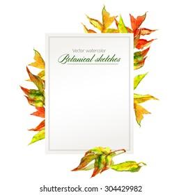 template congratulations announcement round frame autumn stock