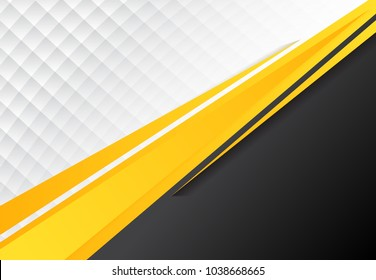 template corporate concept yellow black grey and white contrast background. Vector graphic design illustration, copy space