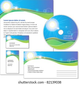 Template of corporate identity. Designed for companies related to the environment, agriculture, etc.