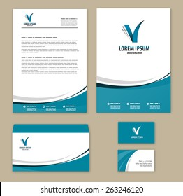 Letterhead template images stock photos vectors shutterstock template corporate style mock up company logo design altavistaventures Gallery