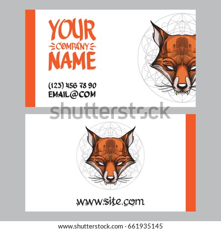 Template Creating Business Cards Banners Space Stock Vector Royalty