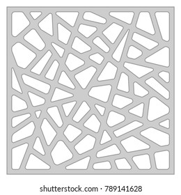 Template for cutting. Abstract line pattern. Laser cut. Ratio 1:1. Vector illustration.