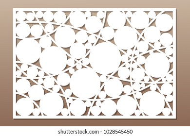 Template for cutting. Circle, geometric pattern. Laser cut. Set ratio 2:3. Vector illustration.