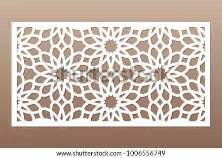 template cutting geometric flower pattern laser のベクター画像素材