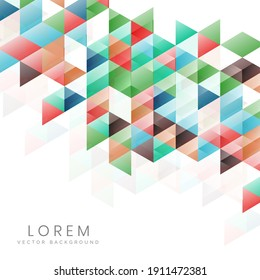 Template design abstract modern colorful triangles on white background with copy space for text. You can use for ad, poster, template, business presentation. Vector illustration