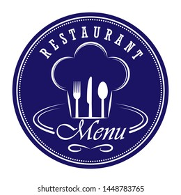 Template for design and decoration of restaurant menu, catering or gastro service, flat design