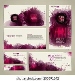 Template design for flyer, card, poster or banner. From artistic background with colored spots. vector