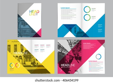 Template design, Layout, Brochure , Geometric Abstract Modern Backgrounds