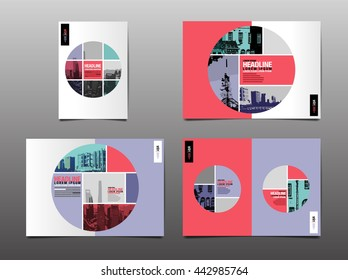 Template design, Layout,Brochure, Flyer,Geometric , circle, Abstract Modern Backgrounds