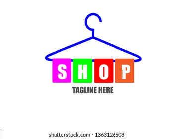Template Design for Logos and Icons About Clothing Stores, Laundry, and for Other Related Projects