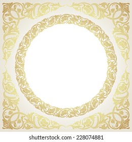 Template for design with luxury style border.