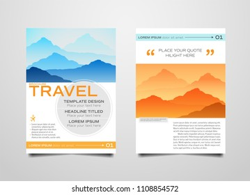 template design for travel magazinebrochureposterflyerleaflethandbill layout