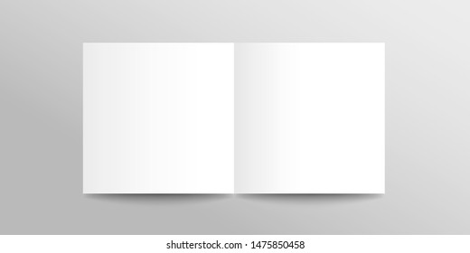 Template for design. White realistic template for brochure, poster, invitation, magazine, booklet.