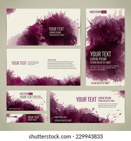 Template designs for different formats. From artistic background with colored spots. vector