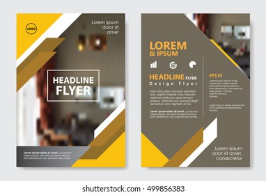 Template diagonal lines abstract design magazine brochure flayer booklet cover vector layout