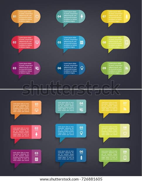 Template Diagram Graph Presentation Chart Colorful Stock