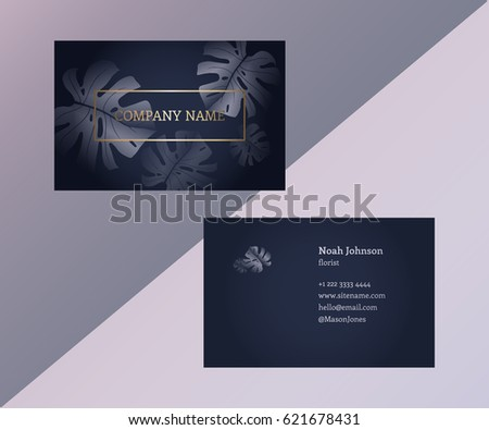 template double sided business card trendy stock vector royalty