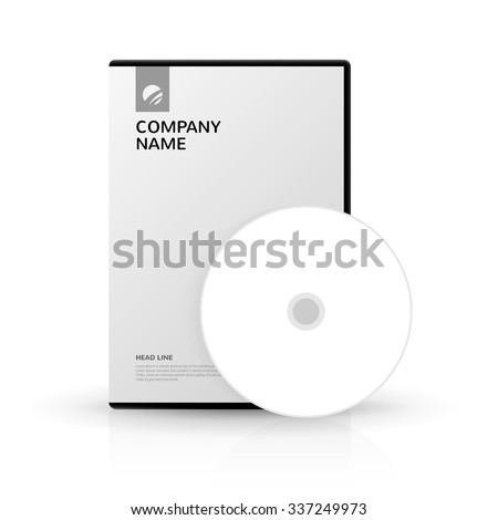template dvd box dv ddisc dvd disc company stock vector royalty